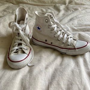 white high top converse